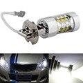 1PC High Power H3 LED Car Light Good 80W LED Super Bright White Fog Tail Turn DRL Head Car Light Daytime Running Lamp Bulb 12V