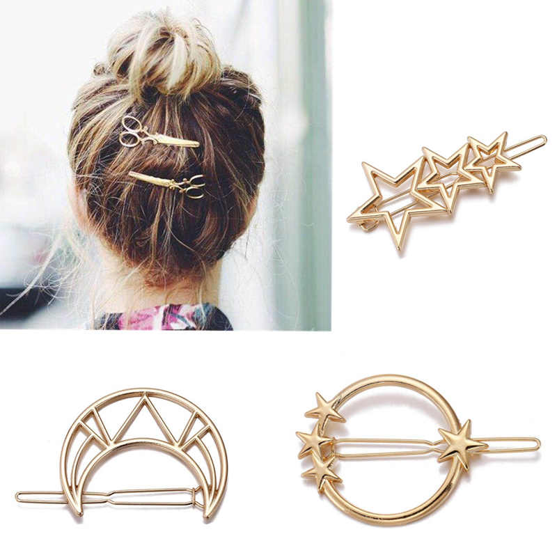 M MISM Girls Moon Hairpins Hair Clips Hairgrip Hair Accessories Cat Comb Round Barrettes Jewelry Womens Head Accessories