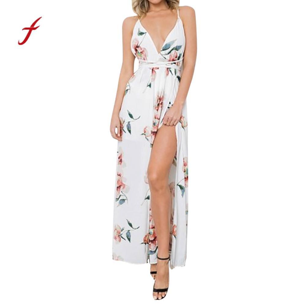 Женские платья Maxi v образный вырез праздничные с ремешками женские Boho пляжный