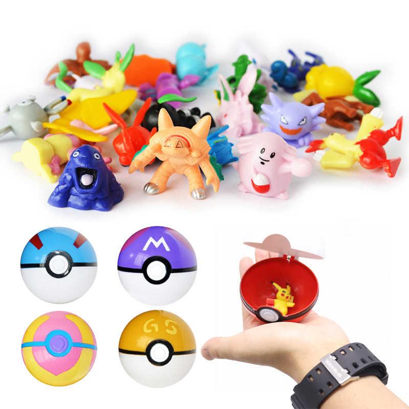 Estilo 13 7 centímetros Bonito Pikachu Pokeball Dentro Anime Figura Brinquedo Bola Bola Monstro de Bolso Pikachu Figura Brinquedos para As Crianças