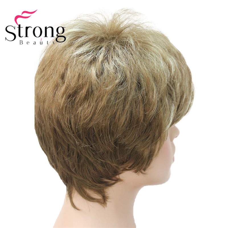 E-1777 Fashion Women`s Wigs Blonde & Light Brown Mix Short Synthetic Full Wig (3)