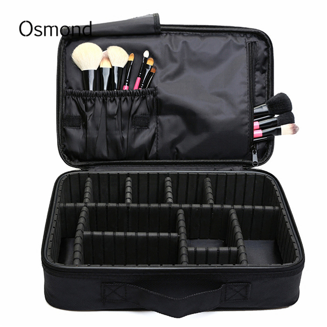 Makeup Brush Bag Case Make Up Organizer Toiletry Bag Storage Cosmetic Bag  Large Nail Art Tool a445c0151be7