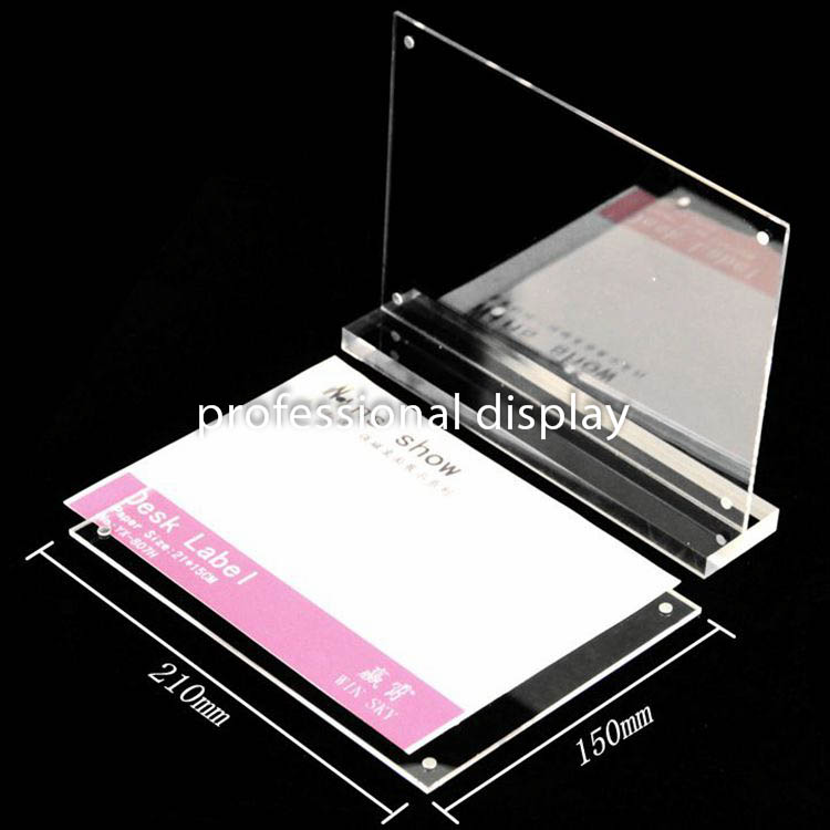 Office & School Supplies Desk Accessories & Organizer Acrylic Photo Frame A5 Label Holder Photo Frame Desk Sign Holder Menu Stand Plastic Picture Frame Advertising Menu Poster Frame