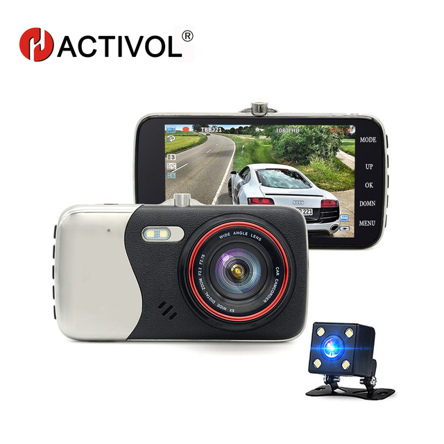 Bway wide angle 4.0 Inch IPS Screen Car DVR Recorder camera dual lens rearview Camera DVR Camera Full HD 1080P Video Dash Cam