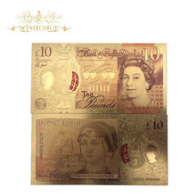 Banknotes Pound Money-10 New-Design Collection Gifts Colored-Paper for 10pcs/Lot UK 24k