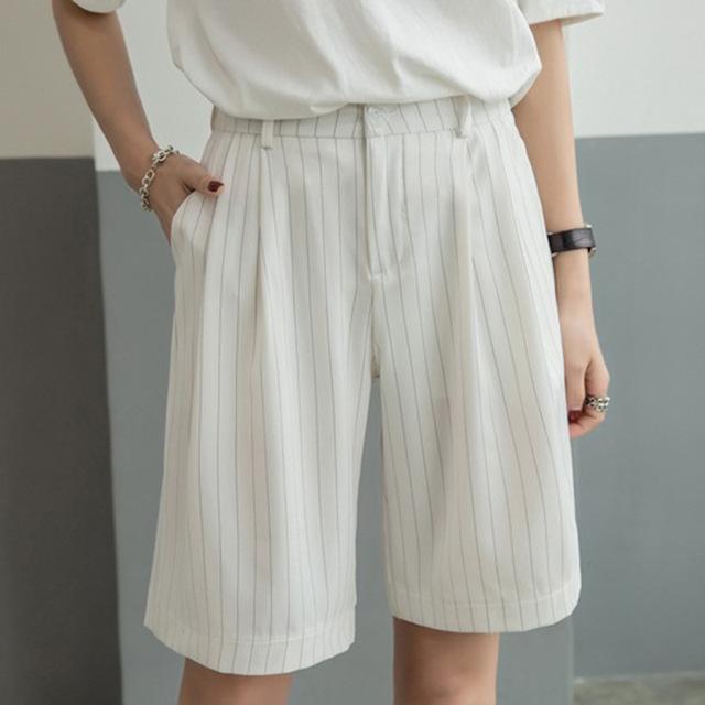 Nova Moda de Verão Calções Chiffon Mulheres Novo Tira Shorts De Perna Larga Cintura Elástica Shorts Soltos Pantalones Deportivos Mujer 7DK0210