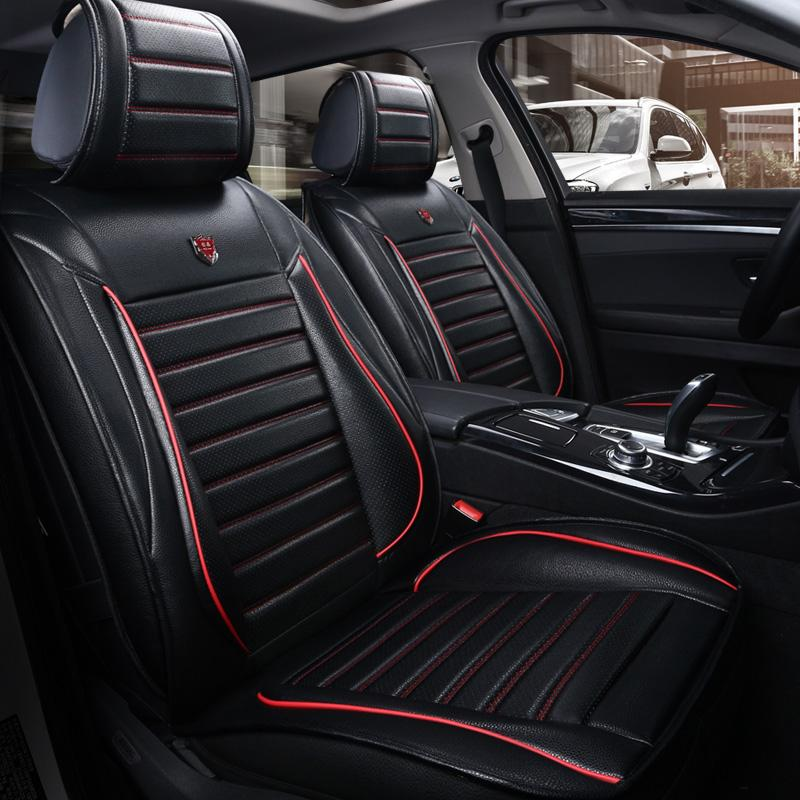car Seat cover for Audi A4 B5 B6 B7 B8 A5 A6 C5 C6 C7 allroad Avant Q5 Q7 pu leather auto seat cushion covers car seat protector