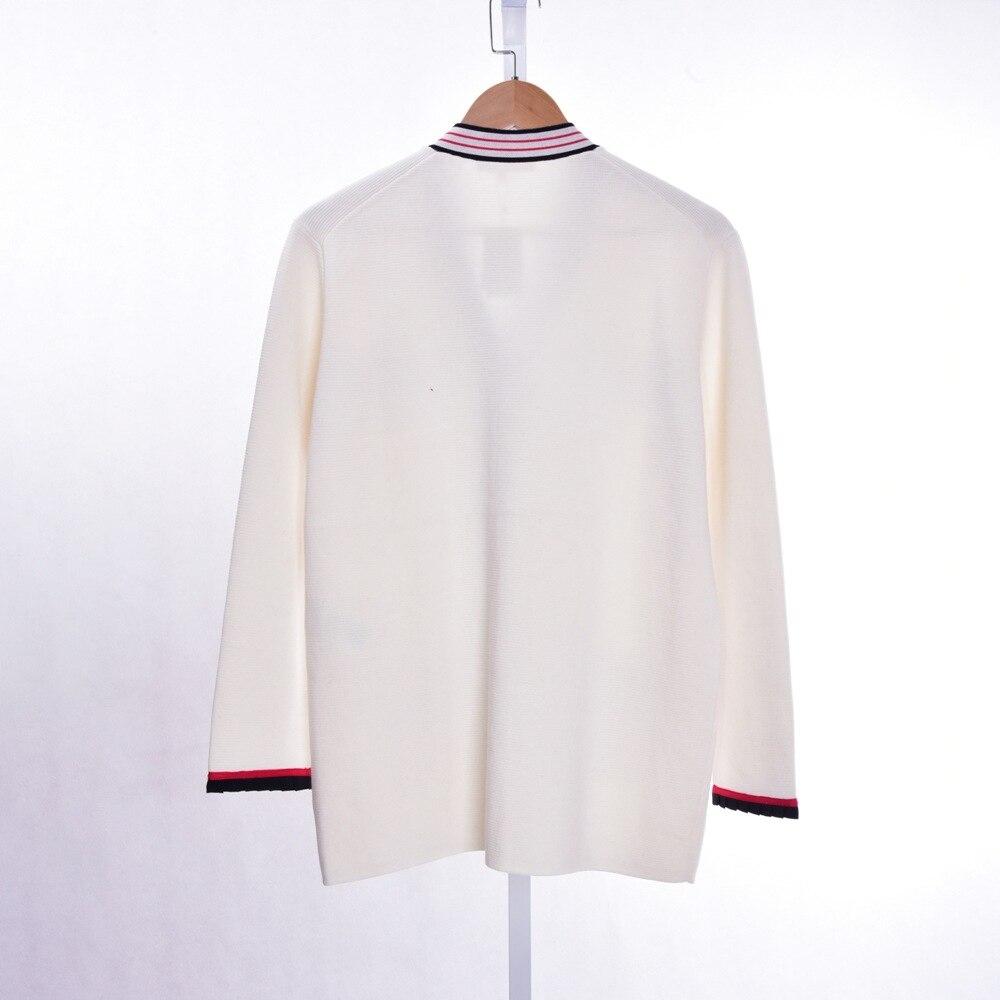 ผู้หญิงเสื้อกันหนาว 2019 ฤดูใบไม้ผลิและ Summer Contrast สี Casual V คอเสื้อ-ใน คาร์ดิแกน จาก เสื้อผ้าสตรี บน   3