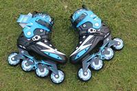 Hoge kwaliteit! Volwassenen mannen Professionele Inline Skate Schoenen Freestyle Schaatsen Laarzen Outdoor Rolschaatsen