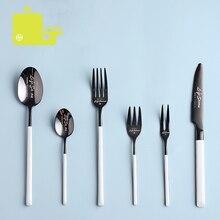 Oneisall Cutlery Set Stainless Steel 6-Piece Western Tableware Dinnerware Dinner Talheres Bestek Spoon Sets jogo de jantar