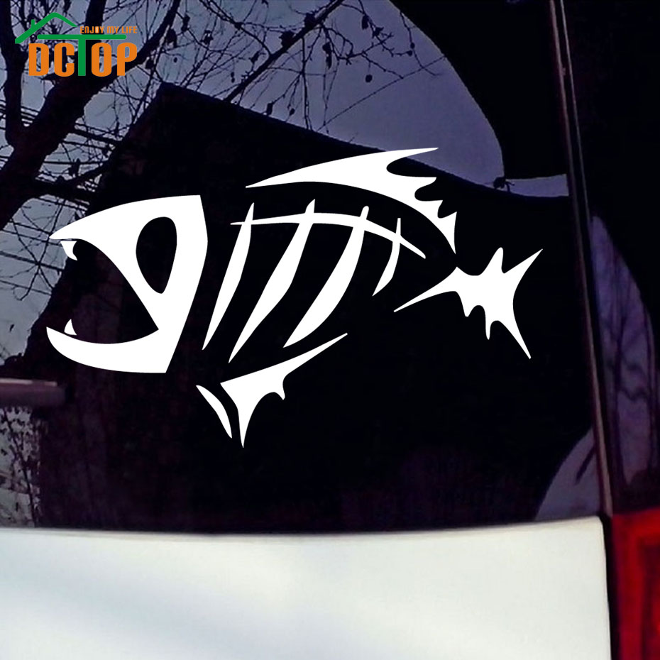 Tribal car sticker design - Tribal Fish Fossil Vinyl Car Stickers Waterproof Art Decals Window Removable Adhesive Car Styling Salt Bones