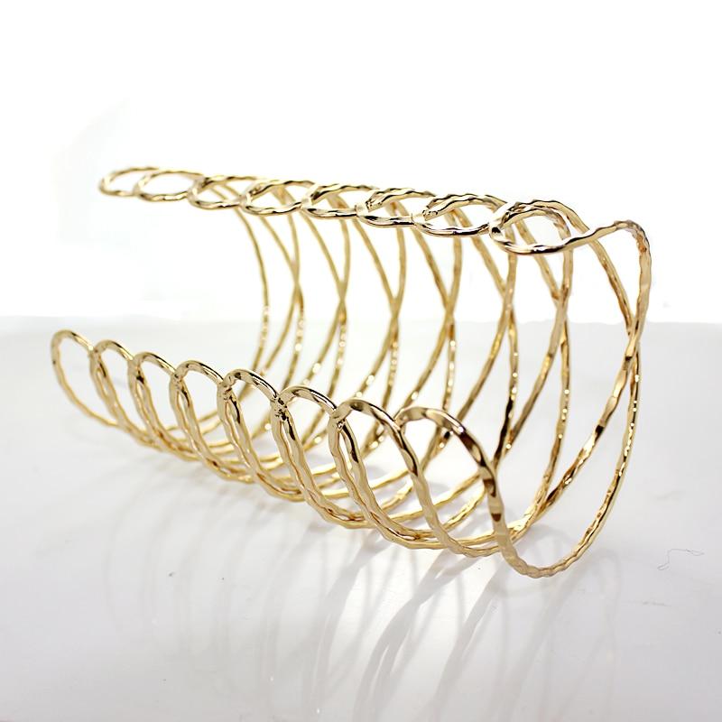 Hot Sale Punk Gold Arm Cuff Bangle Bracelet For Women Pulseiras Para