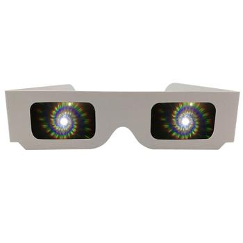1000pcs óculos de fogos de artifício de difração 3D de papel, óculos Starburst para luzes de férias, delírios, shows, festas infantis e para adultos 1