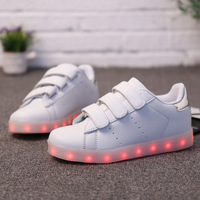 New Children S LED Light Shoes 2016 Kids USB Charging Leisure Sports Shoes Brand Boys Girls