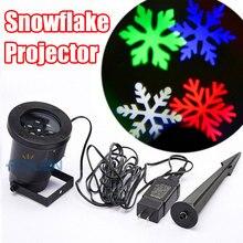 Открытый Рождество Снежинка Свет Проектор Перемещение Эффект Шоу RGB LED Снег, Огни Рождественские Украшения Для Дома