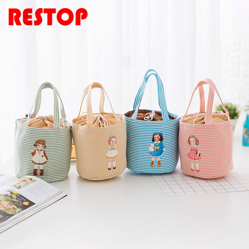 Little girl Waterproof Oxford Lunch Bag Thermal Food Picnic Lunch Bags for Women kids Men Cooler Lunch Box Bag Tote RES919