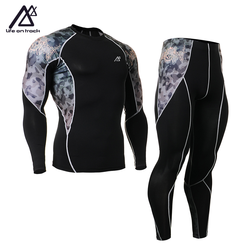 Life on Track Men Tracksuits Tights Set Male Jersey Cycling Quick-Drying Sportswear Fitness Bike Clothing Sports Fitness life on track men s compression riding underwear set long sleeve suit workout bicycle clothing set