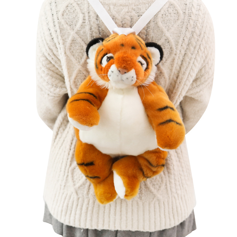 Millffy Dropshipping Tiger Plush Backpack Peluche Animals Tigers Kindergarten Toddler School Bag Children Kids Gifts
