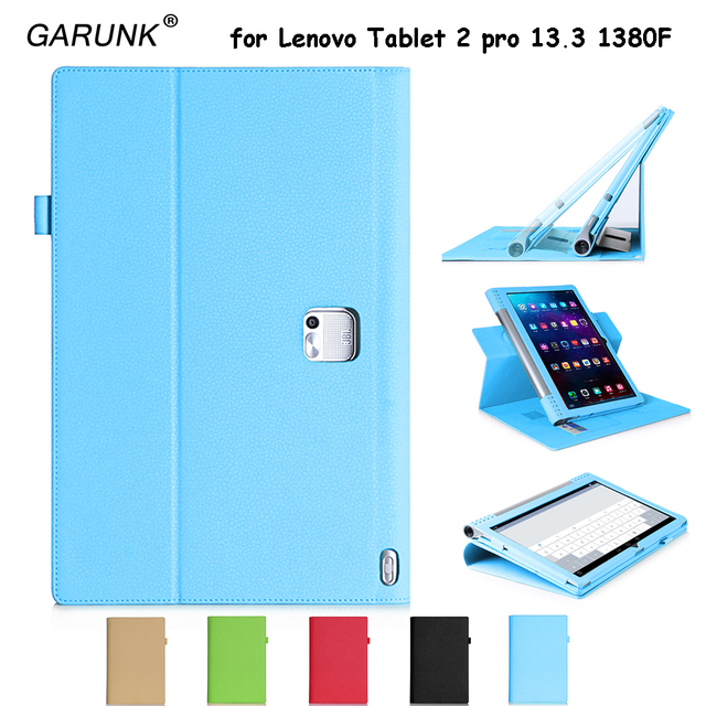 the latest cb1b5 01294 US $16.19 24% OFF|Tablet Case for Lenovo Yoga Tab 2 pro 13.3 1380F High  Quality Leather Put pen Card Handle Stand Luxury Business Protective  Cover-in ...