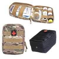 Kit de primeros auxilios médico táctico de supervivencia al aire libre Molle médica EMT cubierta de emergencia militar Paquete de caza bolsa de cinturón