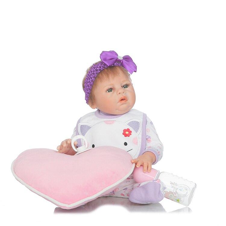 50 см полный силиконовый корпус Reborn игрушки куклы 50 см для новорожденных девочек кукла подарок на день рождения для детей купаться игрушка д...