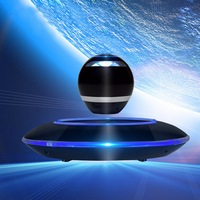 Magnetic Floating Levitation Portable Wireless Bluetooth LED Woofer Speaker Mini Maglev DIY Speaker For PC Android