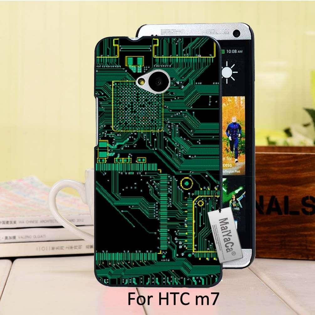 Bonito plástico duro teléfono accesorios case para htc one m7 case diseño de pla