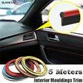 5 M Universal Car Styling Flexível Tiras de PVC Interior Decoração Moldagem Guarnição Decorativa Interna Linha DIY Etiqueta Do Carro-Styling