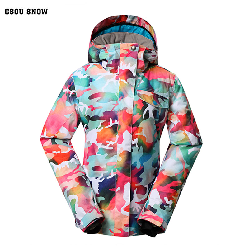 Gsou Snow Women's Ski Jacket Hot Sale High Quality Ski Jackets New Arrival Women's Ski Team Warm Ski Snow Jacket Free delivery
