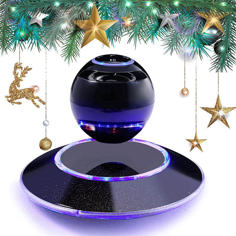 Wireless Bluetooth 4.0 Speaker Portable Magnetic Levitation Floating 3D Stereo USB Charge Subwoofer Speaker with LED Light 500g magnetic levitation intelligent digital movement bluetooth speaker accessories creative gifts diy pot stereo speakers