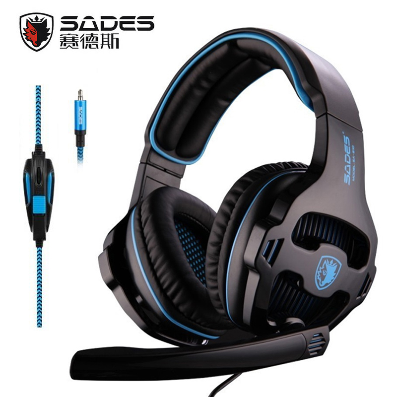 SADES SA-810 3,5 mm stereo gaming headset Hoofdtelefoons Multi-platform voor PS4 Xbox One PC Mac Laptop telefoon
