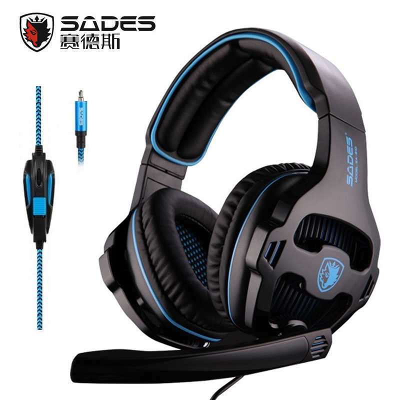 bd0b993dd45 SADES SA-810 3.5mm Stereo Gaming Headset Headphones Multi-platform For PS4  Xbox
