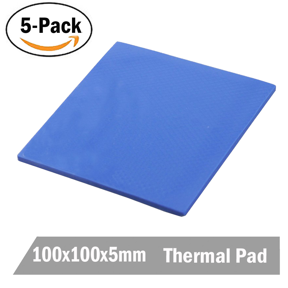 High Quality 5PCS 100 x 5mm Blue Silicone Conductive Compound Thermal Heatsink Paste