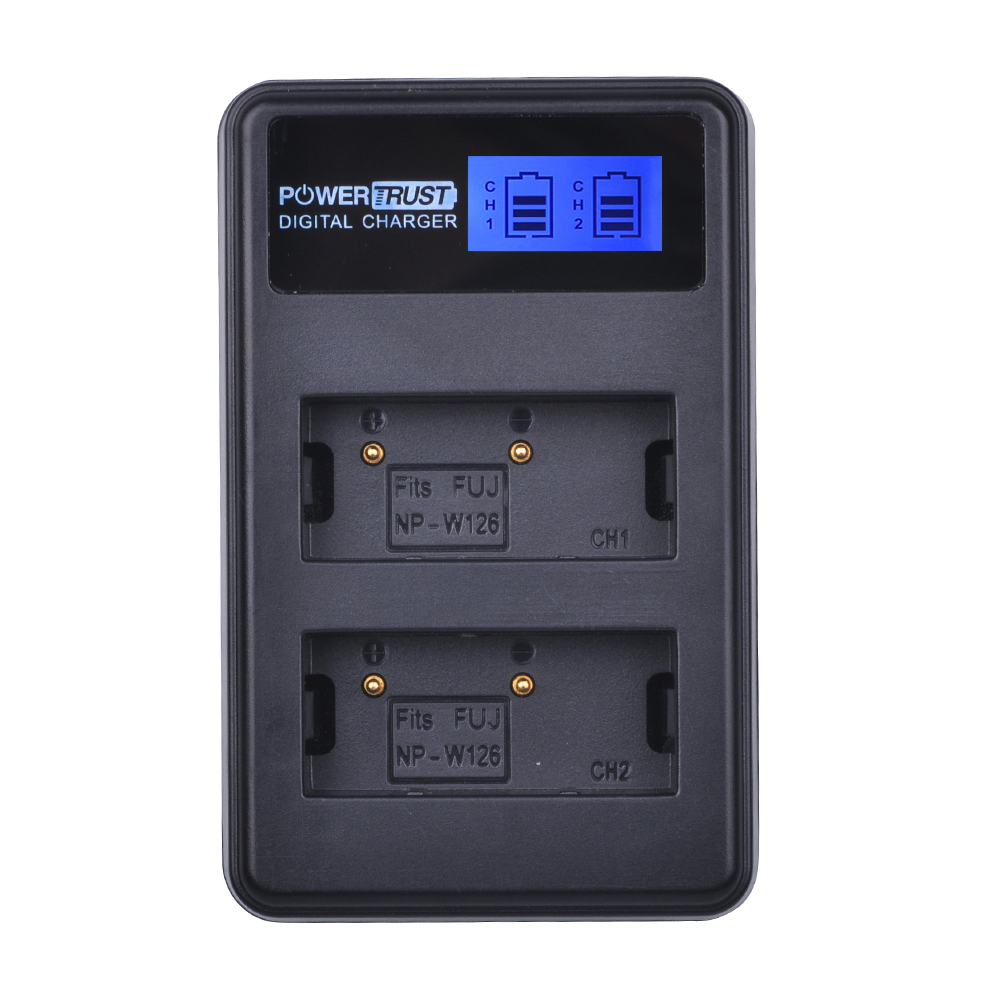 NP-W126 NPW126 NP W126 LCD USB Dual Charger for Fujifilm FinePix HS30EXR HS33EXR X-Pro1 X-E1 X-E2 X-M1 X-A1 X-A2