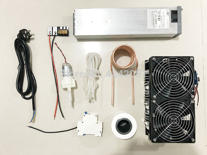 2500W ZVS Induction Heater suit 1800W ZVS Induction Heater suit Melted metal Coil Mayitr crucible Pump