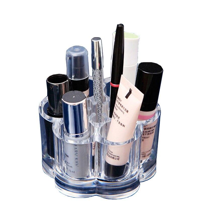 Clear Acrylic Cosmetic Organizer Makeup Jewelry Storage Display Box Lipstick Stand Holder Display