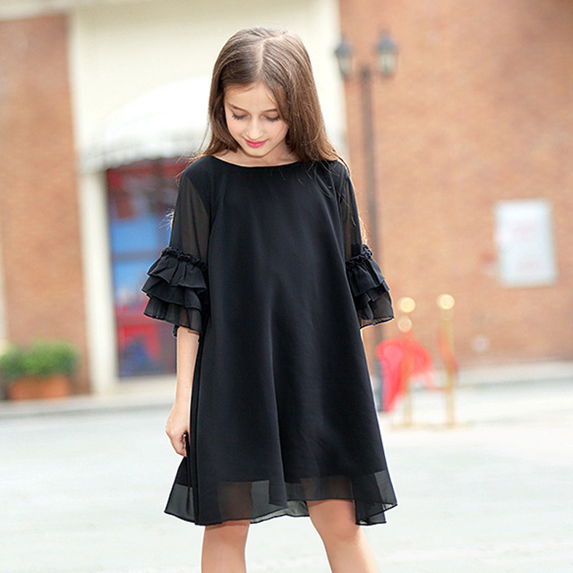 2bd8e1f14634e teenage girls clothing dresses big girl dress summer 2018 little girls  chiffon dressees size 4 5 6 7 8 9 10 11 12 13 14 15 years