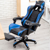 Internet Cafes Computer Chair Lying Household Office Chair With Footrest Seat Racing Synthetic Soft Leather Cyber Games Chair