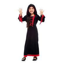Kids Child Girls Gothic Victorian Vampiress Vampire Girl Cosplay Costume Fantasia Halloween Carnival Mardi Gras Party Dress