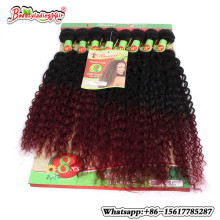 Mongolian Kinky Curly Hair Crochet Extensions 8Pieces/lot afro kinky curly hair tangle free brazilian deep