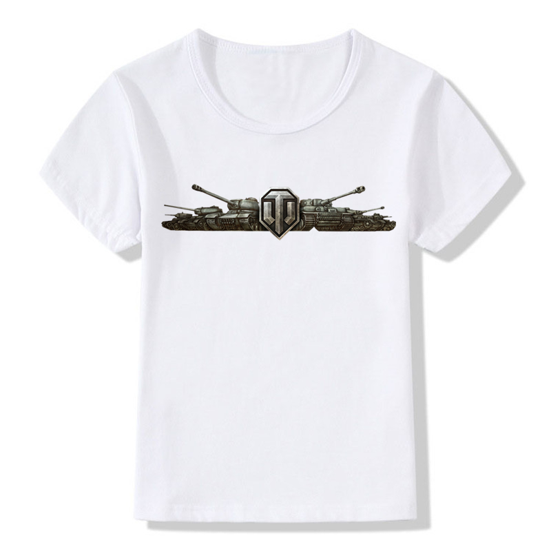 Boys And Girls Print Army World Of Tanks WOT T-shirt Children Short Sleeve Fashion T shirt Kids Tops Tee Baby Clothes,HKP133