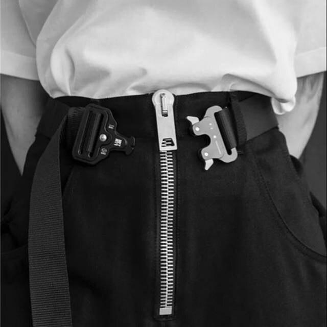 rivenditore all'ingrosso d6aa1 dec45 US $34.16 |Quattro Tipi di Cintura Roller Coaster CINTURA Bottone In  Metallo Unisex di Hip Hop di Marca Refurtiva Donne Degli Uomini Della  Cinghia ...
