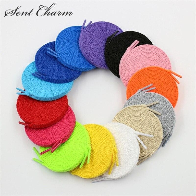 "Rainbow Color Canvas Athletic Shoelace Bootlace Fat Round Shoe Laces 47/"""