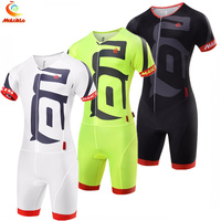 Malciklo Men's Fluo Yellow 2018 Ropa Ciclismo Maillot Cycling Jersey Bike Clothing Triathlon Sport for Cycling Swimming Running