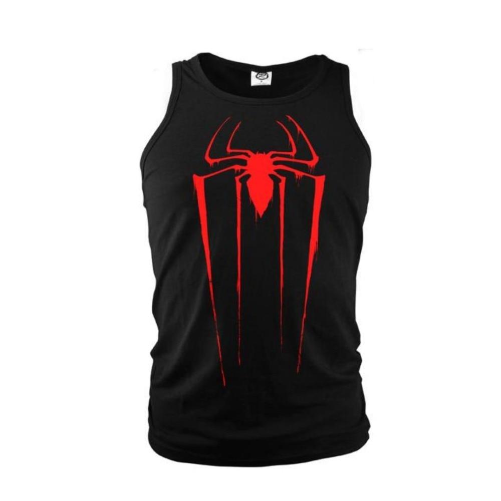 SzBlaZe Brand New Mens Cotton Vest Spider man Sleeveless Singlet Halloween Print   Tank     Top   Summer Slim Design Fashion   Top