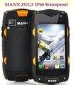 Originais mann zug 3 zug3 a18 msm8225 quad core ip68 Telefone Celular à prova d' água 1 GB RAM 4 GB ROM IPS À Prova de Choque À Prova de Poeira smartphones