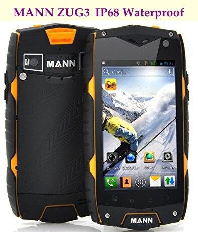 Original MANN ZUG 3 A18 ZUG3 MSM8225 Quad Core IP68 Waterproof Mobile Phone 1GB RAM 4GB ROM IPS Dustproof Shockproof