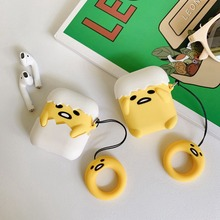 3D Cute Silicone Earphone Case For Airpods Case Soft Chick Egg Headphone Protective Cover For Apple