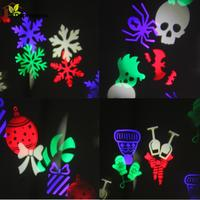 White Snowflake LED Laser Stage Lighting Waterproof Outdoor Christmas Lights LED Stage Light For Christmas Party