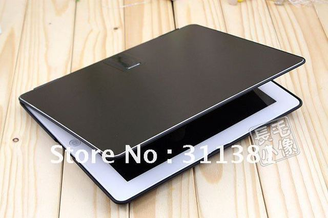 Aluminium Metal Stand / Holder & Protective Hard Case Cover for Ipad 2 Black,Free shipping